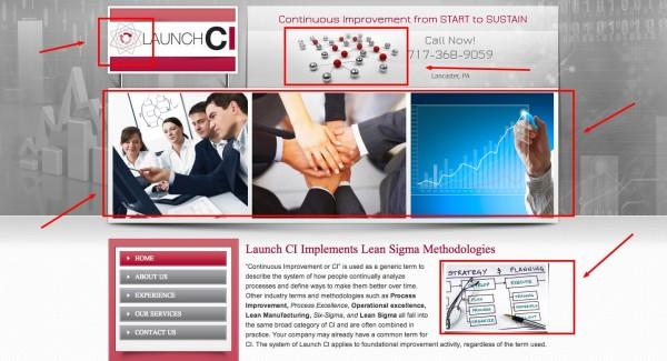 Continuous improvement consultant website makeover