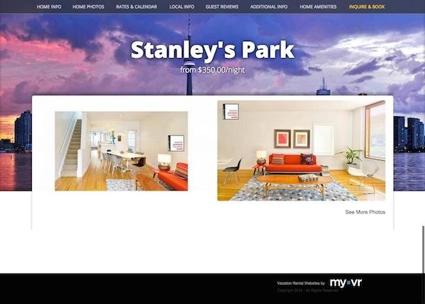 Vacation Rental Website Makeover