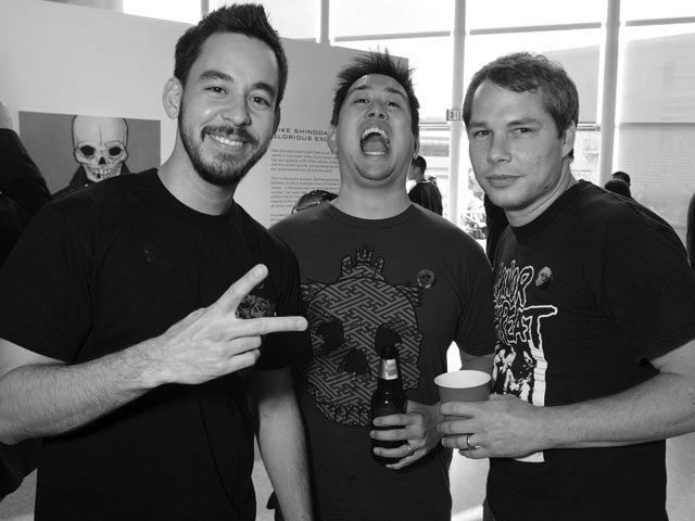 mike shinoda, joseph hahn and shephard fairey